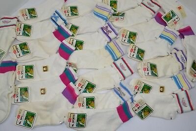 Vtg Lot of 24prs HANES MS SPORTS Athletic Socks Striped Terry More! 9-11 NOS