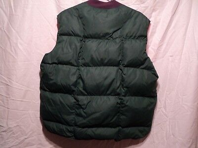 Mens Prime Goose down vest for camping/Hunting vintage XL, Free Shipping