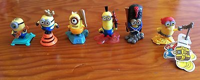 Lot Of 6 Kinder Surprise Minions.