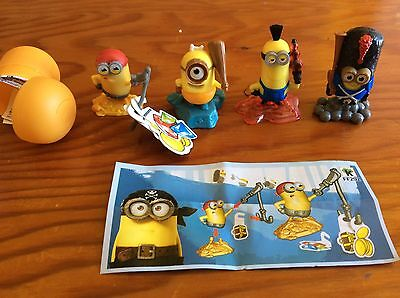 Lot Of 4 Kinder Surprise Minions.
