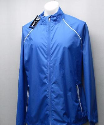 New Mens adidas Provisional XL Long sleeve waterproof golf jacket Oasis Blue