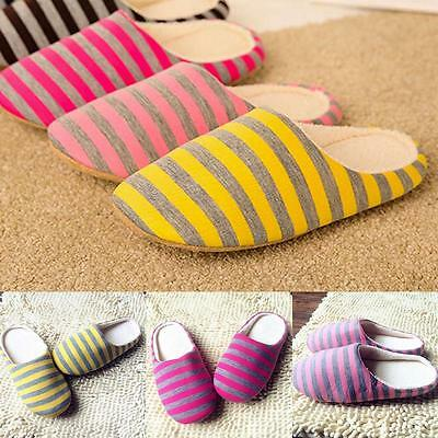 Unisex Casual Winter Warm Slippers Indoor Floor Shoes Non-slip House Shoes