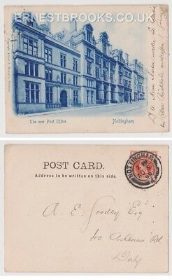Early Postcard, Nottinghamshire, The New Post Office, Early Postcard, 1899