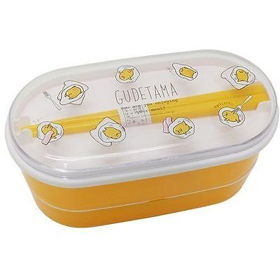 New Gudetama Sanrio Bento Lunch Box Two Tiers Made in Japan