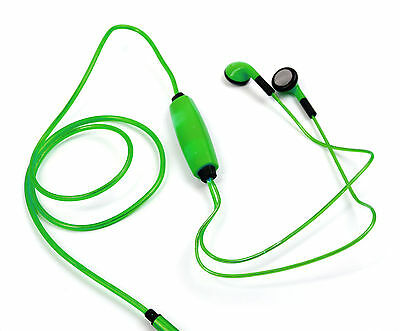 Neon Light-Up Earphones in Green for Acer Iconia One 8 / Tab 10 (A3-A30)