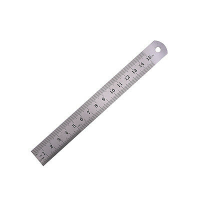 1PC Metric Rule Precision Double Sided Measuring Tool  15cm Metal Ruler QW