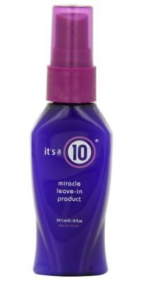 New IT'S A 10 Miracle Leave In Product 2oz Fast Free P&P