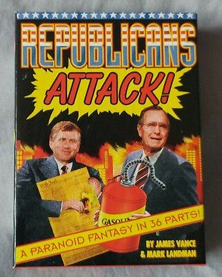 Republicans Attack! Trading Card Set 1992 Kitchen Sink Press