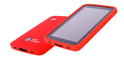 Moulded RED Silicone Case For Samsung Galaxy TAB P1000 + BONUS SCREEN PROTECTOR