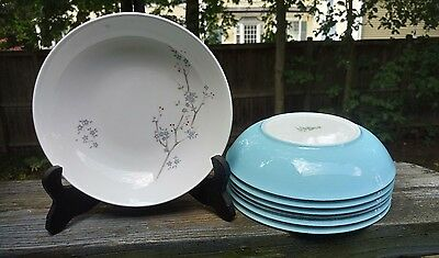 7 Royal Doulton SUMMER SONG Blue Cereal Bowls