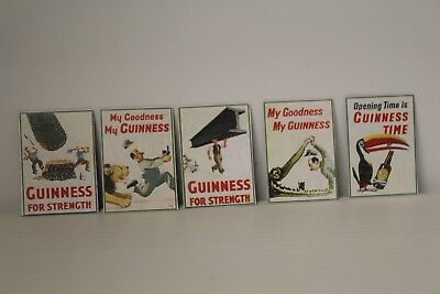 DOLLS HOUSE  Pub = Set Of 5 Guinness Signs