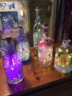 Light Bottles Hand Decorated