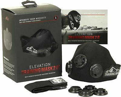 Elevation Training Mask 2.0 Blackout Edition (All Sizes) - gym mma high altitude