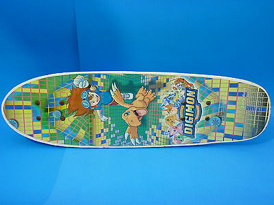Vintage DIGIMON Digital Monsters Kids Wooden SKATEBOARD (2000)  RARE!