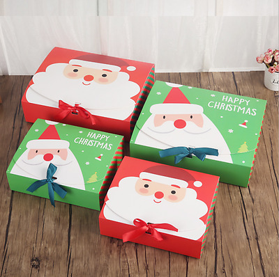 High Quality Xmas Christmas Eve Gift Box Favour Present Gifts Candy Boxes Cute