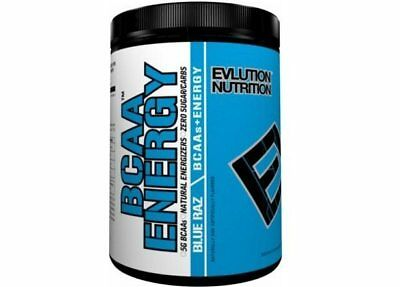 EVLUTION NUTRITION BCAA ENERGY (30 SERVINGS) aminos recovery focus Blue RAZ