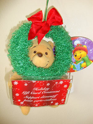 DISNEY POOH PLUSH ORNAMENT GIFT CARD HOLDERS set of 4 PERFECT for GIFT GIVING