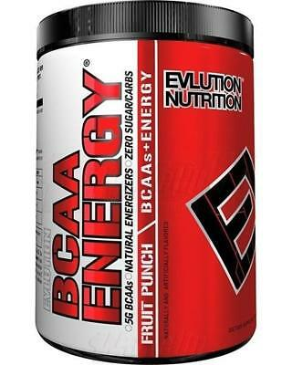 EVLUTION NUTRITION BCAA ENERGY (30 SERVINGS) aminos recovery focus Fruit Punch