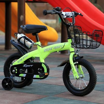 """kids bike 14"""" with stabilisers and FREE drink bottle"""