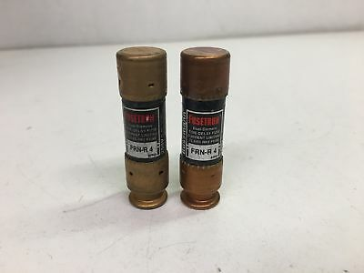 Bussmann Fusetron Dual-Element Time-Delay RK5 250V Fuse FRN-R-4 Lot of 2