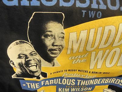 Blues at the Crossroads Two 2013 Tour T-Shirt Tribute Muddy Waters Howlin Wolf