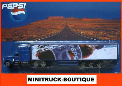 PEPSI Cola - Bottle of Ice / truck US Peterbilt 378 with trailer, Scale HO/1:87