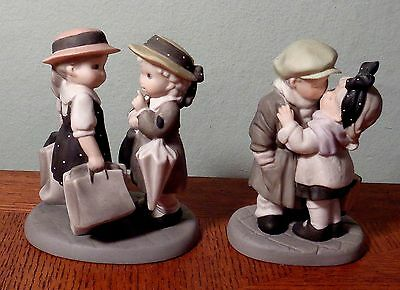 "Enesco Porcelain Figurines ""Friends to Last a Lifetime"" & ""We've Only Just Begun"