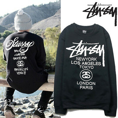 Stussy World Tour Womens Mens Hooded Hoodies Sweatshirt Jumper Sweat Pullover AU