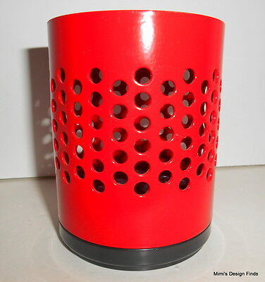 Mid Century Design Studio Erre REXITE Red Centobuchi Pencil Pen Holder Cup Italy