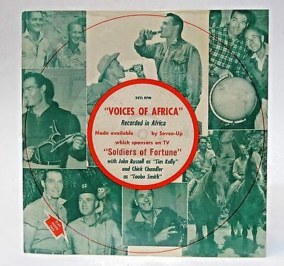 rare 1956 SOLDIERS OF FORTUNE TV Show picture disc record 7 UP Soda promotional