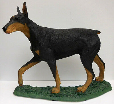 Living Stone Doberman Pinscher Figurine, Walking, Item 01301