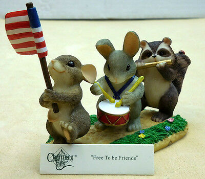 "Charming Tails, Fitz And Floyd, ""free To Be Friends"" #89/116, Sku742414222851"