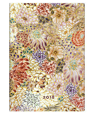 Diary 2018 Paperblanks Kikka Midi Vertical Week To View 124x172mm