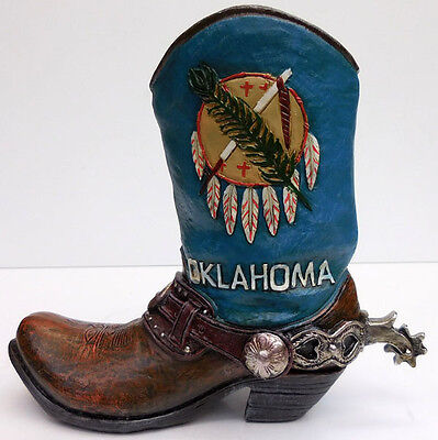 Oklahoma Cowboy Collectible Boot,larger Size,deleon Collections, Sku 67495612927