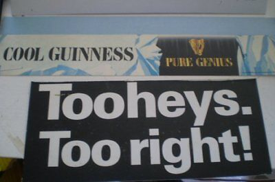 2  Old beer advertising signs  - Tooheys  and Guinness