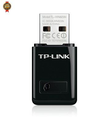 TP-LINK TL-WN823N 300 Mbps Mini Wireless and USB Adapter, 2.4 GHz - Black NEW
