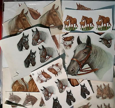 Decals Horses Heads Craft Pottery .  Waterslide