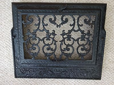 Ornate Vintage Cast Iron Heating Grate - Wall Register - Architectural Salvage