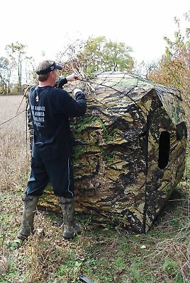 Primos Double Bull Ground Blind Brush Lock Net Black