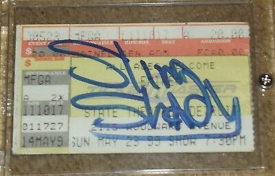 EMINEM EARLY CAREER 1999 AUTOGRAPH TICKET STUB slim shady lp ep signed RARE