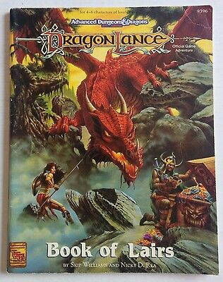 TSR Dragonlance Book of Lairs Dungeons & Dragons 2nd Edition D&D 9396 RPG