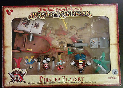Disney Mickey Mouse Pirates of the Caribbean Figurine Play Set Park Exclusive