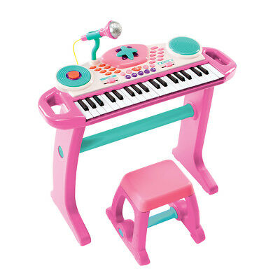 Bruin Light Up Keyboard with Stool - Pink