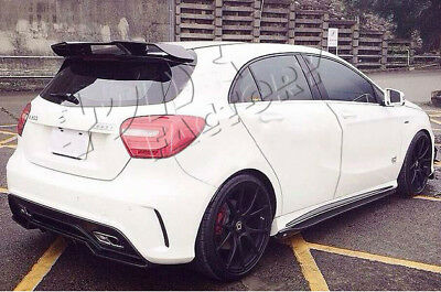 Mercedes A Class RZ Style Carbon Rear Boot Spoiler W176 Roof Spoiler A45 AMG TF