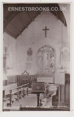 Early Postcard, Nottinghamshire, Gotham, St Lawrence`s Church Interior, RP