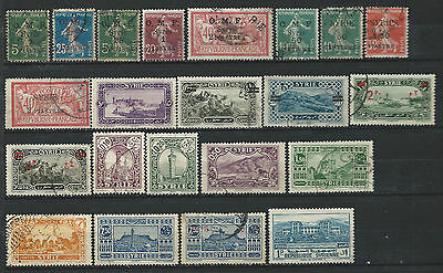 Syrie Lot 22 Timbres Obl (FU) 1920 - 40