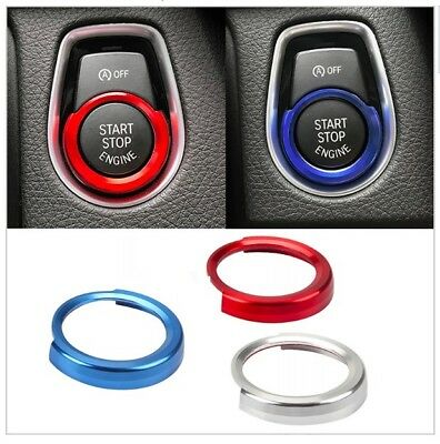 For BMW Start Button Surround Trim Red Blue Silver New UK Stock Styling 1 2 3 4