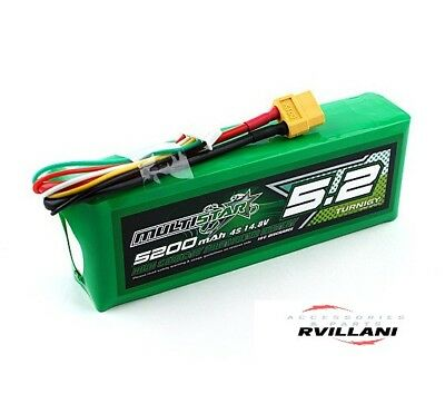 TURNIGY Multistar High Capacity 4S 5200mAh Multi-Rotor 14.8V Lipo Battery DRONE