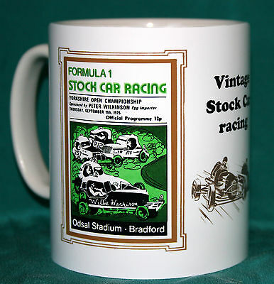 Stock Car Racing.odsal.bradford.retro 1975 Programme Design Mug.great Gift.new