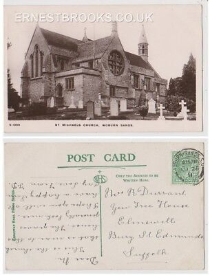 Early Postcard, Bedfordshire,Woburn Sands, St Michael`s Church,Nice View,1911,RP